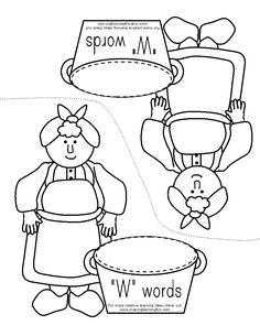 """Mrs. Wishy Washy """"W"""" Words"""