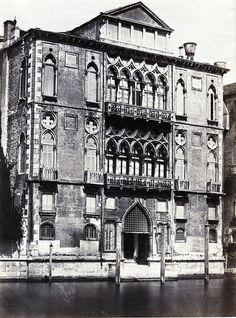 Fratelli Alinari - Palazzo Cavalli-Franchett, Venice, ca 1880,    #TuscanyAgriturismoGiratola