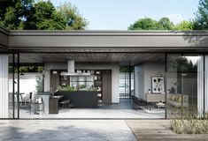 SieMatic Urban SE in graphite oak and stainless steel with L-shaped kitchen island Interior Exterior, Interior Design Kitchen, Kitchen Designs, Küchen In U Form, Urban Kitchen, Kitchen Living, L Shaped Kitchen, Loft Interiors, Design Interiors