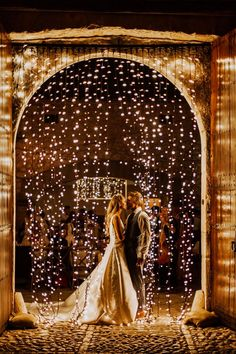 22 Night Wedding Ceremony Aisles and Backdrops With Lights - Night wedding ceremony aisle and backdrop ideas - Wedding Ceremony Ideas, Wedding Night, Wedding Pictures, Wedding Reception, Backdrop Wedding, Tent Wedding, Ceremony Backdrop, Reception Ideas, Perfect Wedding