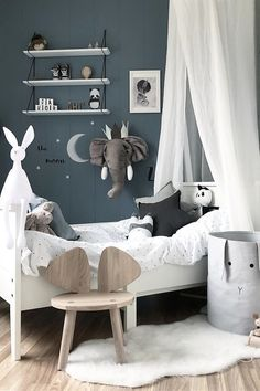 Inspiration from Instagram - ᗷenedιcтe @benedictewessel -black and white, boys room ideas, grey, black and white boys room, Scandinavian style, monochrome design kids room ideas
