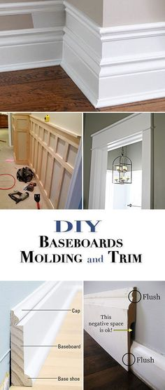 awesome cool awesome DIY Basebords, Molding and Trim • One of the best home improvemen...