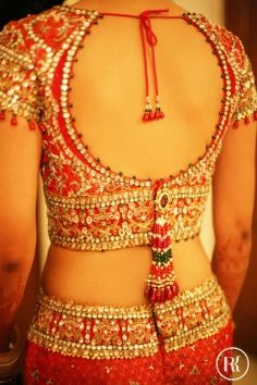 Ronicka Kandhari Photography Bridal Portrait Lehenga Red Gold Sequin Embroidery Zardozi