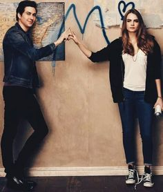 Quentin Jacobsen and Margo Roth Spiegelman from Paper Towns Cara Delevingne, John Green Quotes, John Green Books, Natt Wolf, Quentin Jacobsen, John Green Libros, Margo Roth, An Abundance Of Katherines, Looking For Alaska