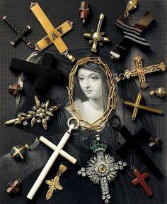 de vera jewelry - lovely solar system of crosses