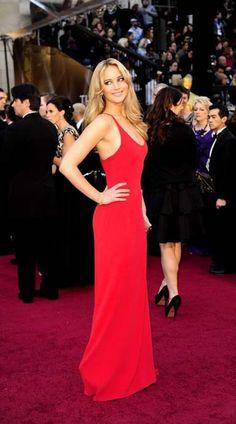 Jennifer Lawrence in Red - Vogue Portugal