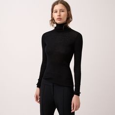FWSS The Bay is a slim, rib knitted turtleneck in merino wool. Fall Winter Spring Summer, Black Turtleneck, Winter Season, Rib Knit, Turtle Neck, Slim, Merino Wool, Sweaters, Shopping