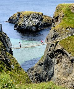 Ballintoy, Northern Ireland - And to think, my father was crazy enough to cross over on the rope bridge