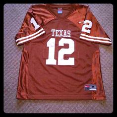 Texas Longhorns Youth M Nike Jersey Size Youth M stitched #12 jersey: great condition other than 2 stains as shown in 3rd photo. Nike Tops