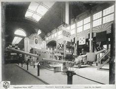 Milano - Esposizione internazionale 1906 - Padiglione dei trasporti marittimi - Salone interno