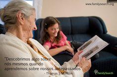 """""""Descobrimos algo sobre nós mesmos quando aprendemos sobre nossos antepassados"""". - Thomas S Monson. Acesse http://on.fb.me/1IE7B11 #CompartilheSuaFelicidade #EncontreLeveEnsine"""
