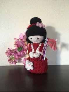 Geisha, Adele, Purple Door, Japan, Organizer, Box, Crochet Hats, Beanie, Etsy Shop