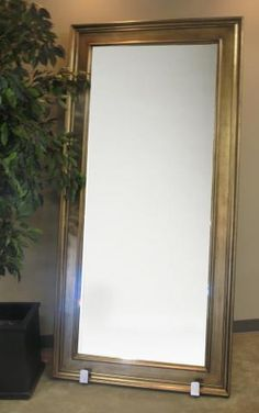 Antique vintage victorian solid wood large heavy thick for 6 foot floor mirror