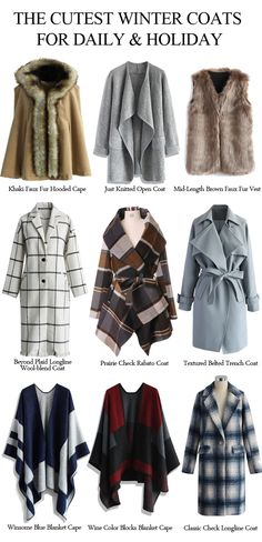 The cutest winter coats for your daily wear or holiday parties.