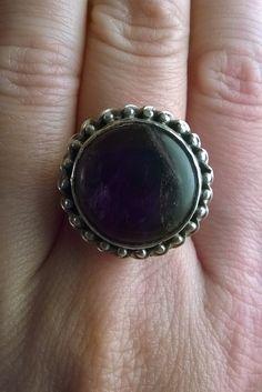 vintage anello ametista di madreperlagioielli su Etsy