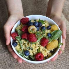 Millet Berry Salad   Herb Dressing