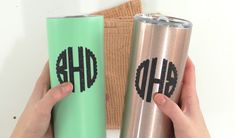 How To Iron-On Tumblers - Makers Gonna Learn How To Make Iron, Personalised Gifts Diy, Cricut Tutorials, Cricut Ideas, Cricket Crafts, Cricut Craft Room, Easy Diy Gifts, Iron On Vinyl, Cricut Creations