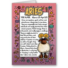 Zodiac - Aries Fun Facts Greeting Cards