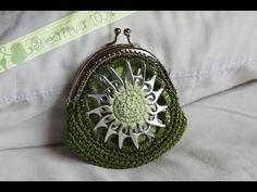 Monedero con fichas de aluminio a crochet: Monedero Estrella MUY BUEN TUT!!!!