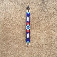 Middernacht veren Bead Loom armband Boheemse Boho Chic giften
