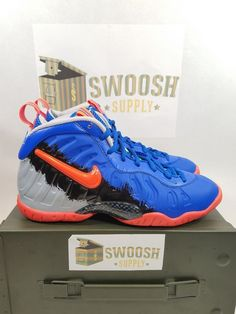 346df624a3e Nike Little Posite Pro Racer Blue total Crimson-green Grade School  644792-403