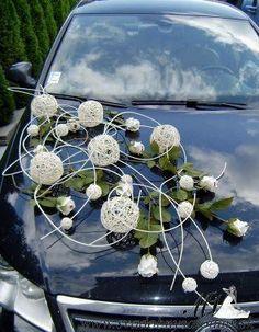 85 Pretty Wedding Car Decorations Diy Ideas Red & White Heart Wedding Cars Ideas In 2019 Wedding Bouquets, Wedding Flowers, Bridal Car, Wedding Car Decorations, Here Comes The Bride, Event Decor, Wedding Designs, Wedding Colors, Floral Arrangements