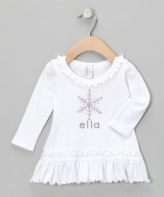 Look at this My Baby Bling White Snowflake Personalized Dress - Infant, Toddler & Girls on #zulily today!