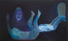 © Rhys Lee ~ Untitled (Figure - falling) ~ 2008 acrylic and enamel on linen at Tim Olsen Gallery Sydney Australia