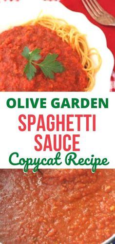 Olive Garden Spaghetti Sauce Recipe, Making Spaghetti Sauce, Best Homemade Spaghetti Sauce, Canned Spaghetti Sauce, Spaghetti Recipes, Best Italian Spaghetti Sauce Recipe, Olive Garden Meat Sauce Recipe, Easy Spagetti Sauce, Meatless Spaghetti Sauce Recipe