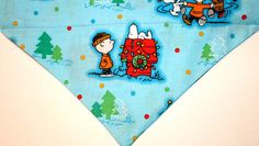 Christmas Snoopy Peanuts  Dog Bandana / Scarf  large by artsydogs, $8.00