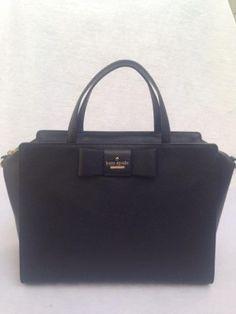 $248 kate spade new york cedar street Bow hayden tote Large bag Black