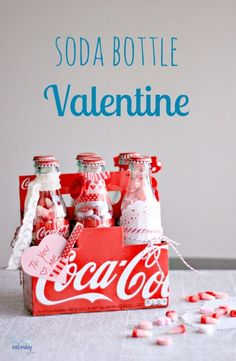 These Soda Bottle Valentine's make the perfect gift!
