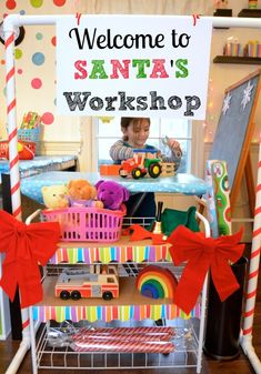(New dramatic play activity?) Let's Play Santa's Workshop -- Activities for Little Elves!