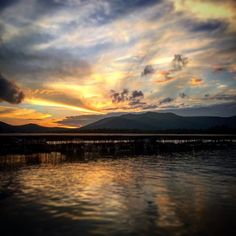 Perfect sunset after a perfect Lake Placid day in the Adirondacks
