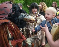 Please little podling make peace, please please.  Skeksis and gelfling costumes made by Fairy-Tailor