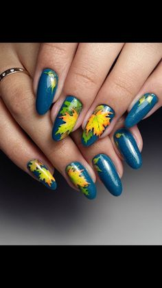 All these nail designs happen to be as easy as they are charming. If you are regularly in search of good ideas and innovative designs, nail art designs are a great way to display your individuality as well as to be original. Pedicure Nail Art, Nail Art Diy, Diy Nails, Blue Pedicure, Pedicure Ideas, Simple Nail Art Designs, Fall Nail Designs, Blue Nails, Glitter Nails
