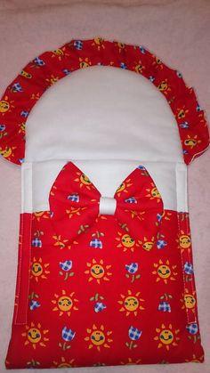 Matajka / Zavinovačka pre bábiku - červená so slniečkami