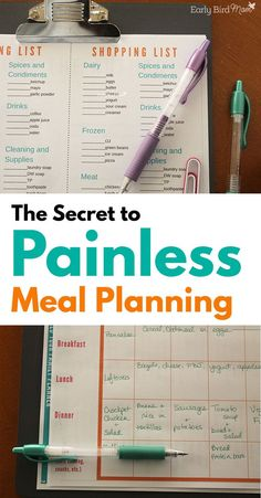Does meal planning seem like another chore that you don't want? Do you think it has to take hours of your time and piles of forms, store flyers? With this easy system for meal planning, you can have your entire week all planned out in about 10 minutes! With pretty printable forms all packaged up in a helpful workbook planner.