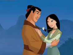 In one of the original versions of the film, Mulan was engaged to Li Shang and matching Yin-Yang necklaces were bestowed upon them. Although that part was removed, the Yin-Yang necklaces survive in...