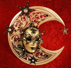 Celestial Venetian mask by Blue Moon Mask