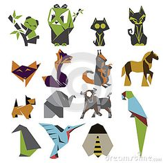 Origami Mark Set Stock Vector - Image: 50761085