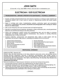 Electrician Resume Examples resume templates entry level electrician resume Click Here To Download This Electrician Resume Template Pinterest The World S Catalog Of Ideas
