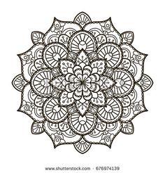 Mandala Ethnic Decorative Element Hand Drawn Backdrop Islam Arabic Indian