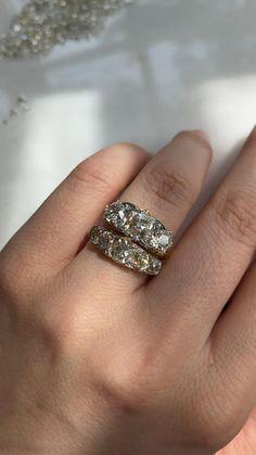 Vintage Diamond Rings, Antique Rings, Diamond Wedding Rings, Wedding Ring Bands, Dream Engagement Rings, Engagement Ring Cuts, Diamond Gemstone, Diamond Jewelry, Emerald Diamond