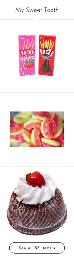 """My Sweet Tooth"" by chibi-space-gal ❤ liked on Polyvore featuring food, fillers - rainbow, accessories, candy, filler, pictures, backgrounds, photos, home and kitchen & dining"