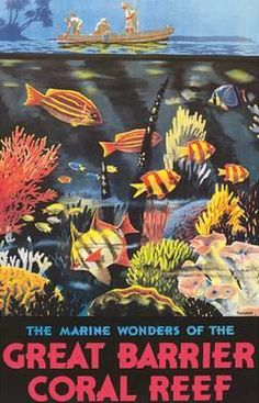Coral 6 Placemats Great Barrier Reef Waterproof Ocean Fish Australia