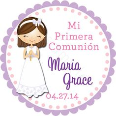 My First Communion Personalized Stickers - Party Favor Labels, Holy Communion, Confirmation, Primera Comunion - Size Choice by partyINK on Etsy Easter Religious, Printable Box, Personalized Stickers, First Holy Communion, Party Favors, Just For You, Baby Shower, Handmade Gifts, Etsy