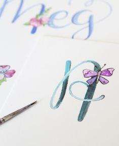 alisaburke: floral alphabet with makewells