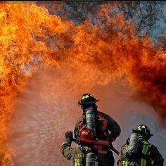 Awesome firefighting picture