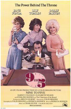 """""""9 to 5"""" (1980) - Such a funny movie!   Primero involuntariamente (porque la repetían en la tele) y luego ya la elegía. Tres secretarias que secuestran a su despreciable jefe."""